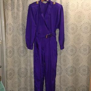 Vintage purple pant jumpsuit Joan Walters